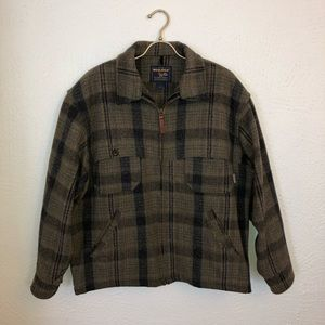 Woolrich Loden Plaid Wool Hunting Jacket